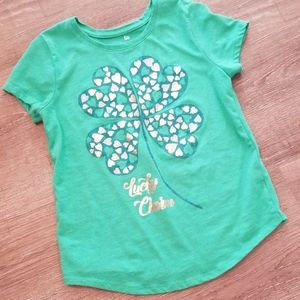 Girls size 7/8 Lucky Charm Graphic Tee